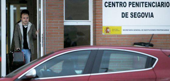 Carromero, a su salida de la cárcel de Segovia, el pasado 11 de enero.