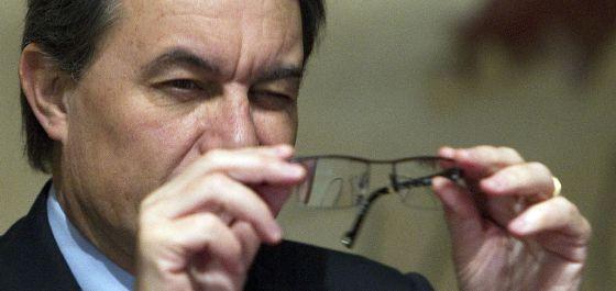 Artur Mas, durante la reunión de su Gobierno del martes pasado.