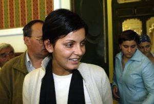 Nevenka Fernández, en el juicio en 2002 en el que se condenó al Ismael Álvarez.