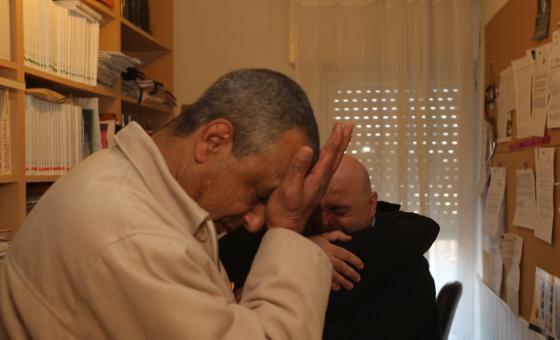 Mohammed Aziz, el marroquí que inició la cruzada contra la ley hipotecaria, tras conocer la sentencia.