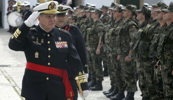 El general Chicharro, en un acto militar en 2009.