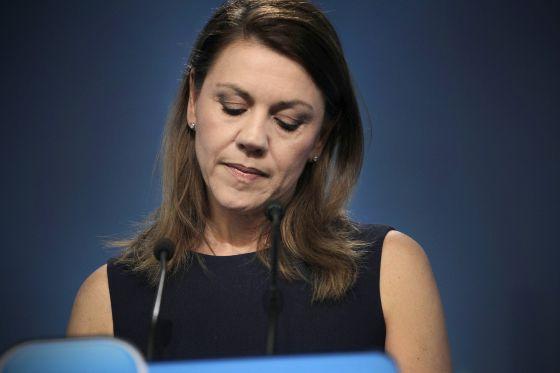 La secretaria general del PP y presidenta de Castilla-La Mancha, Dolores de Cospedal.