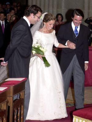 Agag, Ana Aznar y Alejandro Agag, el día de la boda, en septiembre de 2002.
