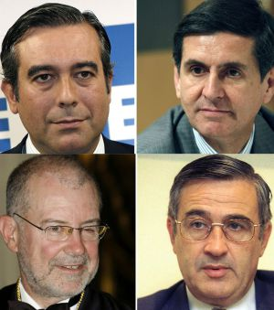 Enrique López, Pedro González Trevijano, Juan Antonio Xiol y Santiago Martínez Vares.