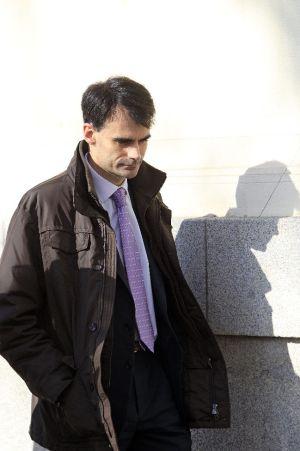 El juez Pablo Ruz, en las inmediaciones de la Audiencia Nacional.