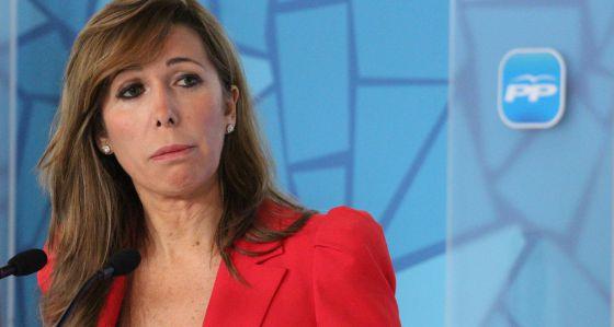 Alicia Sánchez Camacho, durante una rueda de prensa en febrero.