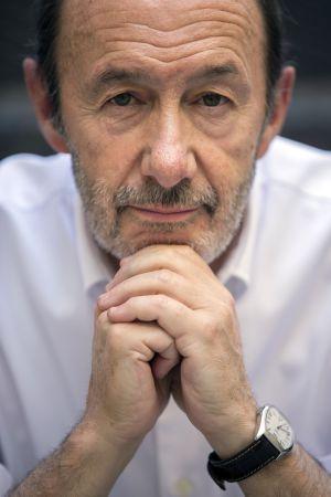 Alfredo Pérez Rubalcaba, en un momento de la entrevista.