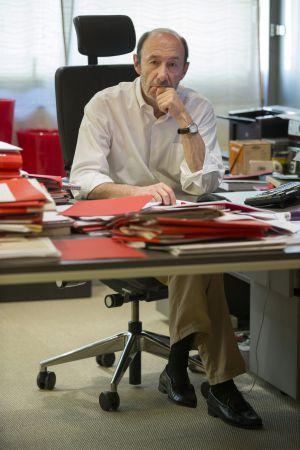 El líder de los socialistas, en su despacho.