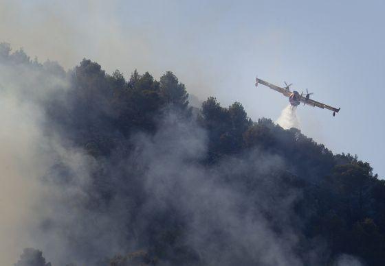 Un fuego arrasa un enclave protegido por la UNESCO en Mallorca