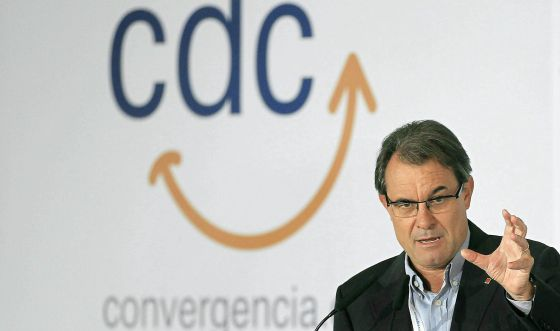 Artur Mas interviene el pasado sábado en el Consell Nacional de CiU.
