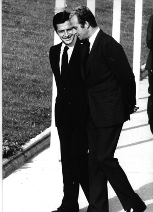 King Juan Carlos and Prime Mininster Adolfo Suárez, pictured in 1976.