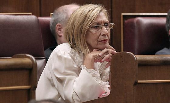 Rosa Díez, de UPyD, durante el pleno.