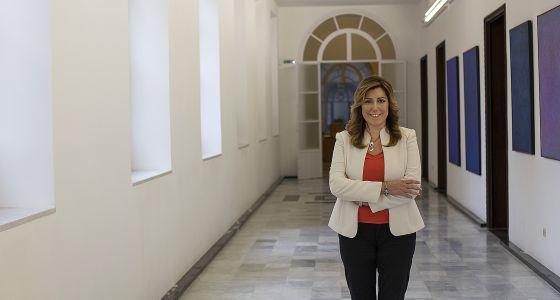 Susana Díaz, presidenta de la Junta de Andalucía, el pasado viernes.
