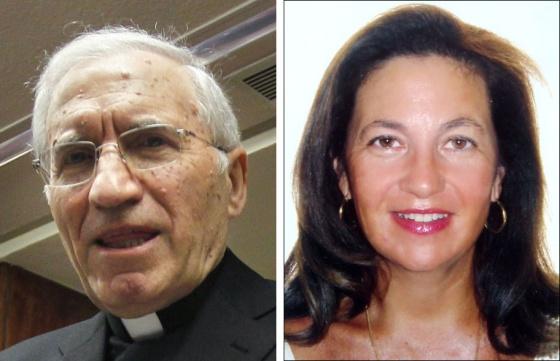 El cardenal de Madrid Antonio María Rouco Varela y Rosa Barranco, presidenta de la Asociación Santa Rita.