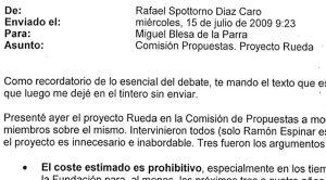 Aznar medió con Blesa para que el banco comprara la colección del artista Rueda