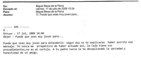 """Blesa al hijo mayor de Aznar: """"Caja Madrid no es mi cortijo"""""""