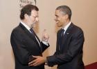 Rajoy honra a los caídos en su primer acto en Washington