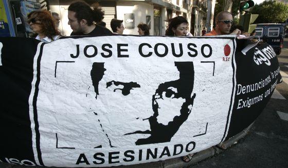 Protesta por el asesinato de José Couso en 2007.