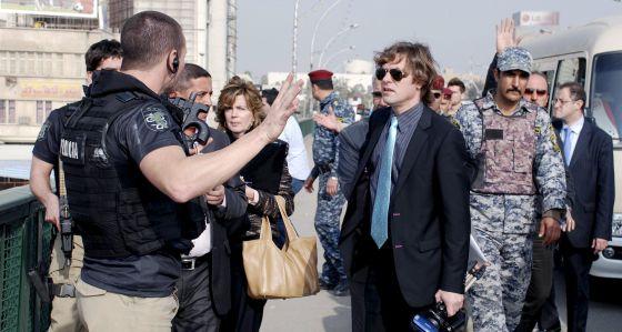 El juez Pedraz reconstruye la muerte de José Couso en Bagdad en 2011.