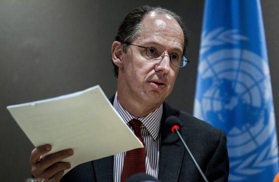 El relator de la ONU, Pablo de Greiff, presenta su balance preliminar.