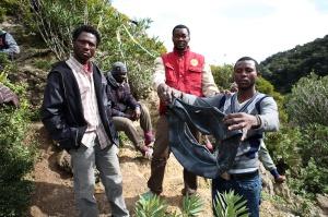 Un grupo de subsaharianos que intentó entrar en Ceuta el pasado jueves.