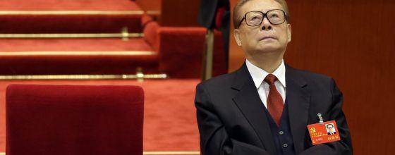 Jiang Zemin durante un discurso de Hu Jintao en noviembre 2012.