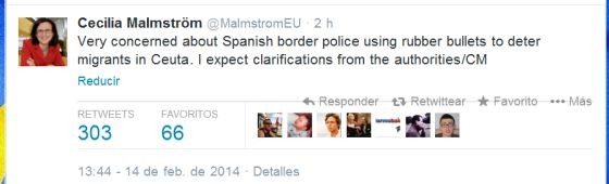 Bruselas amenaza a España con un expediente por disparar pelotas de goma
