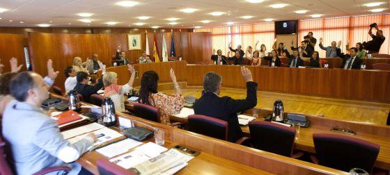 Pleno de 2013 del Ayuntamiento de Vigo, uno de los que se ha sumado al recurso.
