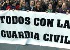 Gritos contra el PSOE en una marcha pro Guardia Civil en Ceuta