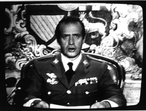 The king addresses the nation on the night of the 1981 coup.