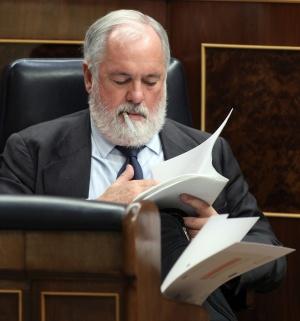 Miguel Arias Cañete en su escaño del Congreso, en una imagen de julio de 2012.