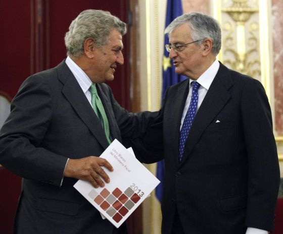 Eduardo Torres-Dulce con Jesús Posadas en el Congreso.