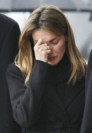 Letizia at her sister Erika's funeral in 2007.