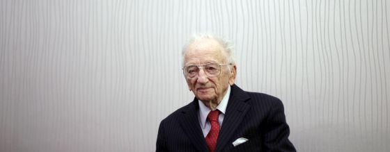 Benjamin Ferencz, durante la entrevista.