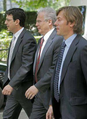 Andreu, Garzón y Pedraz, en una foto de archivo.