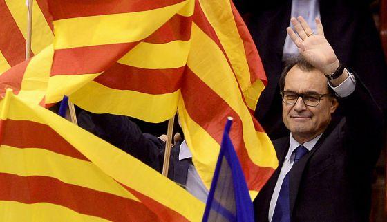Artur Mas, ayer, en un acto de campaña de CiU.