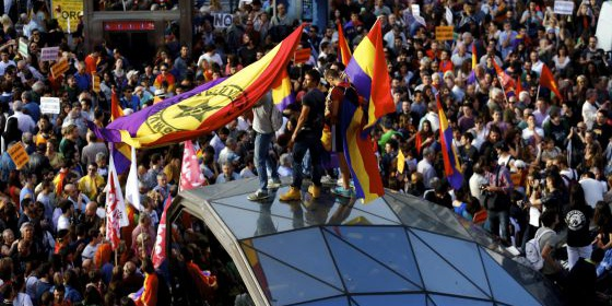Manifestación por la República en Sol, Madrid, el pasado 2 de junio.
