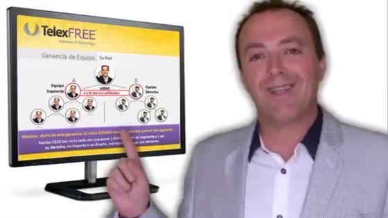 El pionero en España de TelexFree, Antonio Rivas, en una de sus presentaciones