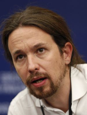 Pablo Iglesias, leader of Podemos, at the European Parliament.