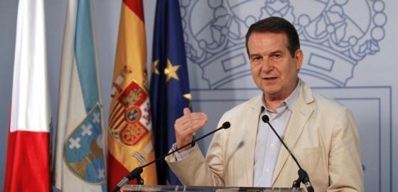 Abel Caballero, alcalde de Vigo, durante la rueda de prensa que ofreció en su ciudad.