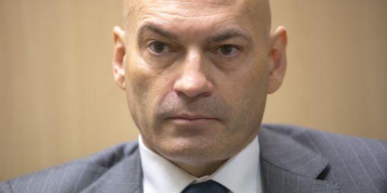 El juez Javier Gómez Bermúdez, en un momento de la entrevista.