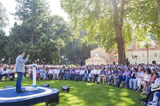 Rajoy durante su discurso en Pontevedra