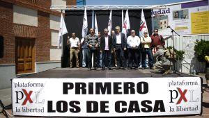 Mitin de Plataforma por la Libertad en Torrejón de Ardoz contra la creación de una mezquita en 2012.