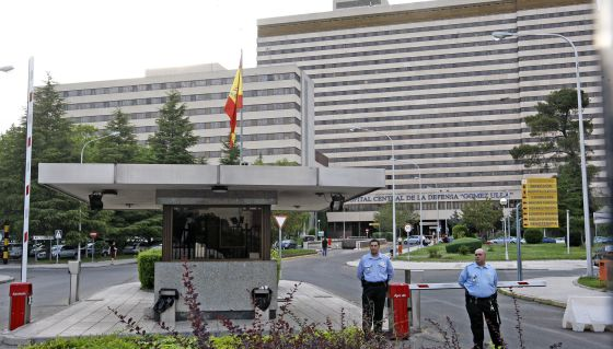 Entrada del Hospital Central de la Defensa Gómez Ulla, en Madrid.
