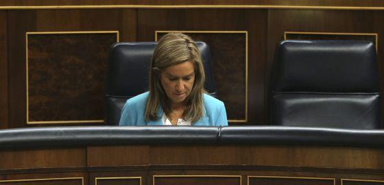La ministra de Sanidad, Ana Mato, durante el pleno de este miércoles.