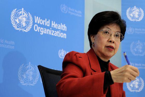 Margaret Chan, directora general de la OMS, en una conferencia de prensa.
