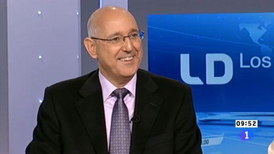 José Antonio Álvarez Gundín, en un debate de 'Los desayunos' de TVE.