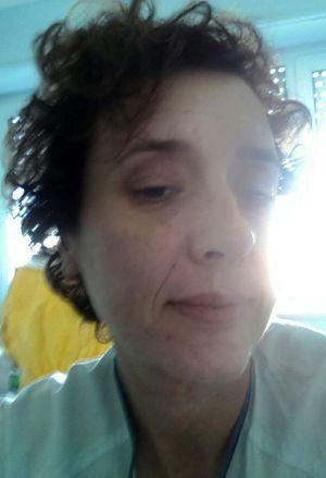 Teresa Romero en el hospital Carlos III.