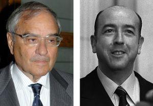 Rodolfo Martín Villa (izquierda) y José Utrera Molina.
