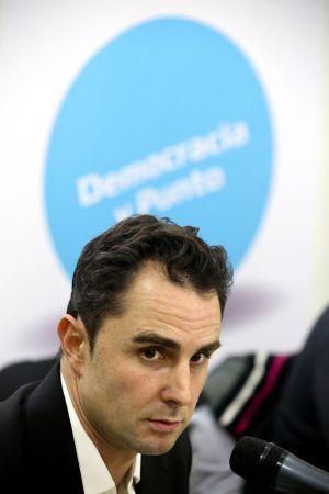 Hervé Falciani, durante un acto público del Partido X.